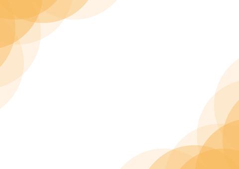 Frame background orange curve circle