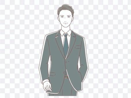 穿西裝的男人