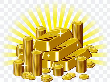 金條和金幣
