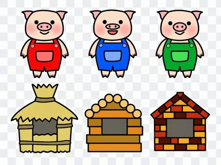 Three little piglets 2 (color)