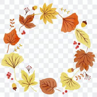 五顏六色的秋葉裝飾框架 2