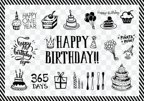 生日材料和標誌