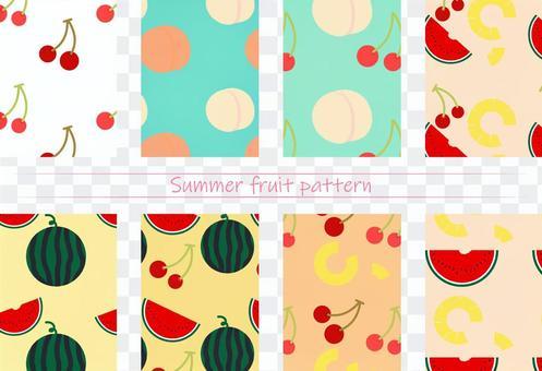 夏季水果圖案
