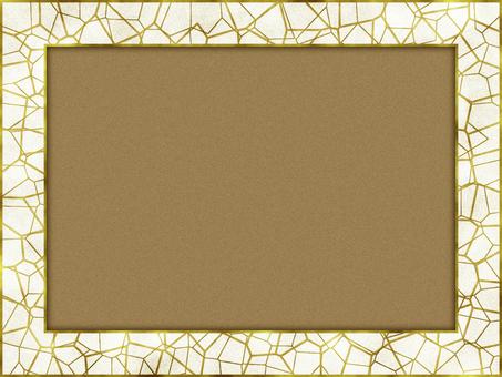 相框馬賽克仿古金框白