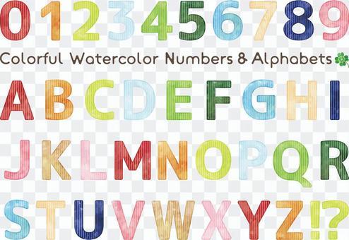 水彩觸摸多彩字母集