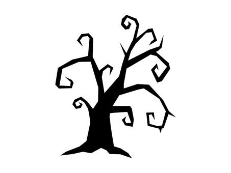 Spooky dead tree silhouette for Halloween