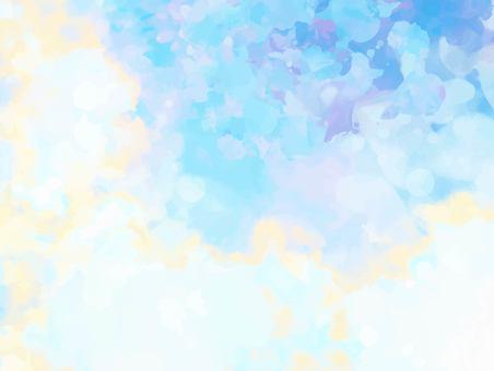 夢幻般的淡藍色水彩紋理背景