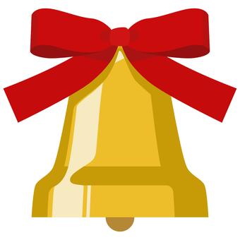 帶絲帶的聖誕鐘聲