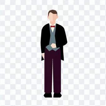 一個穿著燕尾服的男人