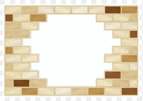 Brown brick frame