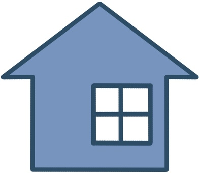 House detached house icon mark