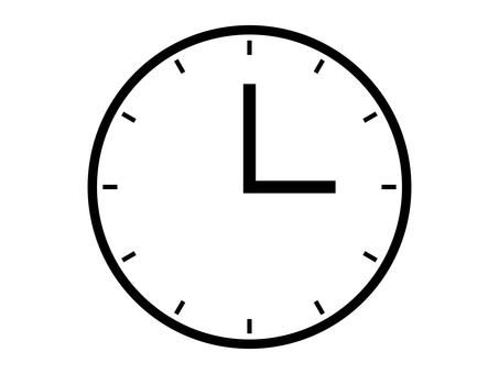 簡單的時鐘圖標:白色:12 級