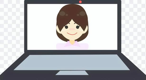 網絡採訪遠程女人