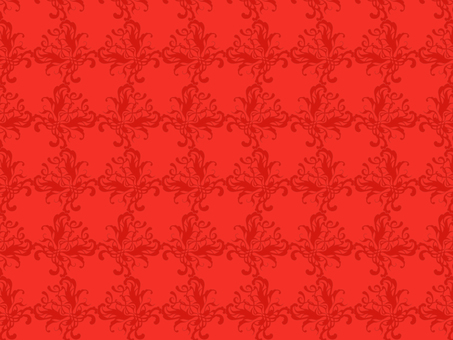Antique style pattern 72 red