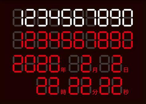 7セグフォント(デジタル数字)