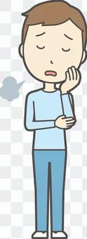 青年藍色長袖055-全身