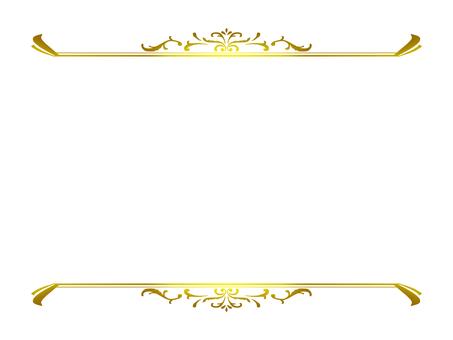 Vintage top and bottom frame (gold)
