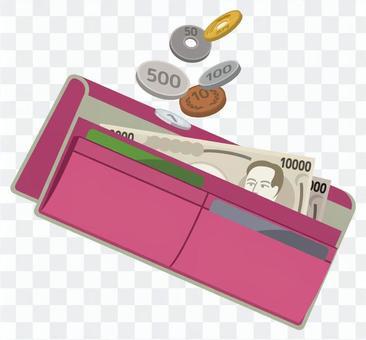 (粉紅色的錢包