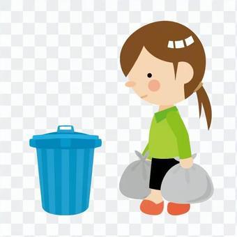 Dumping garbage