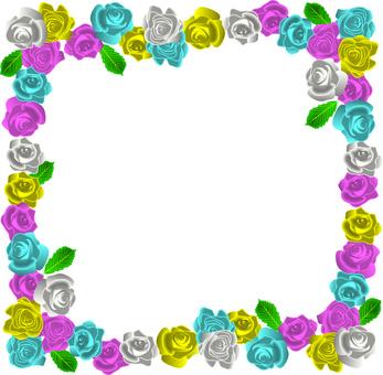 Rose flower colorful elegant