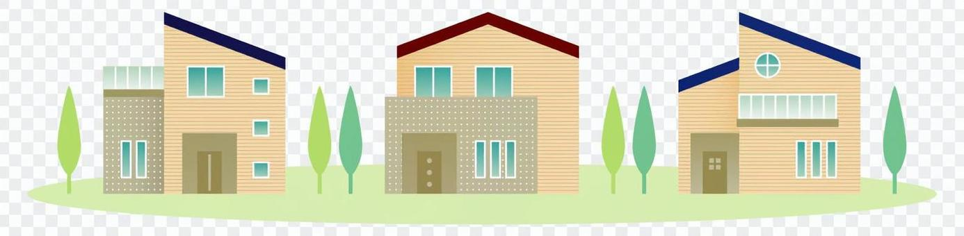 Modern style house (townscape)