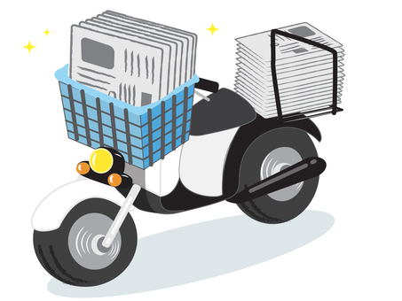 Newspaper delivery (motorcycle)
