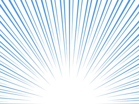 下對齊卡通風格簡約集中線:藍色
