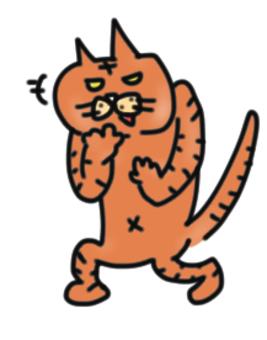 一隻懦弱的貓
