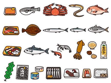 魚貝類套裝