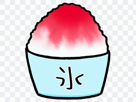 刨冰和草莓味