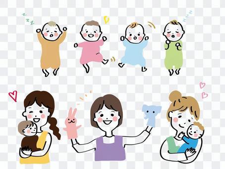 幼兒園老師和寶寶