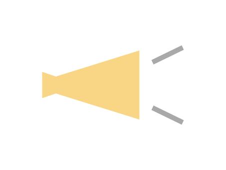 平面擴音器圖標: 黃色