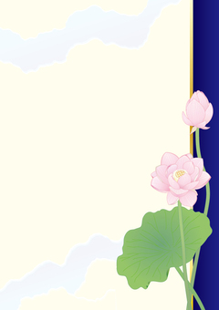 Lotus flower _ Paper vertical plate _ Blue