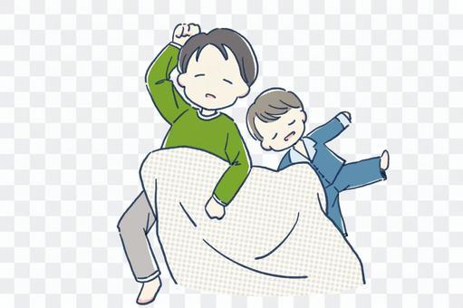 親子午睡撫養孩子