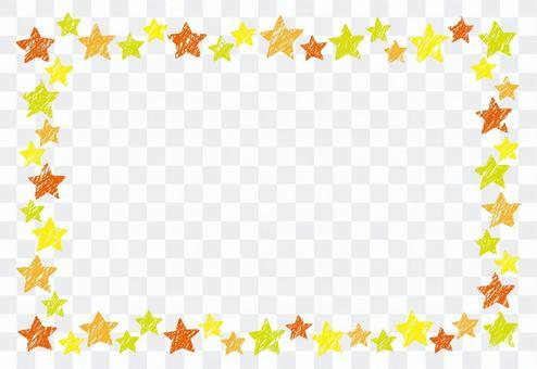 蠟筆狀的星形框架1