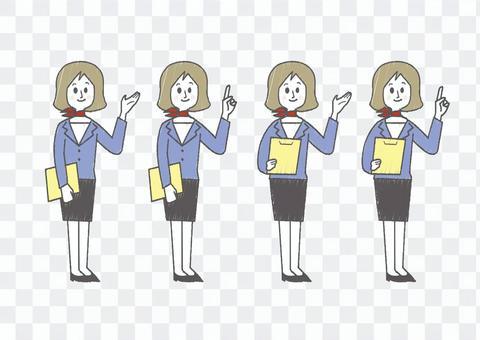 女性_受付全身02