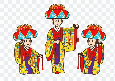 琉球舞(三人)