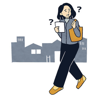 一名迷路和漫遊城市的中年婦女