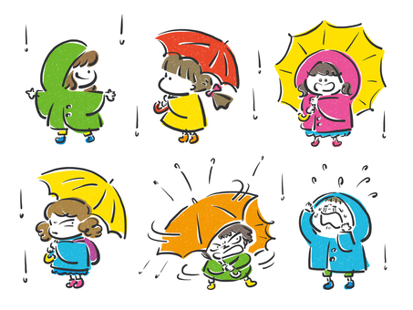 U_rainy day_children