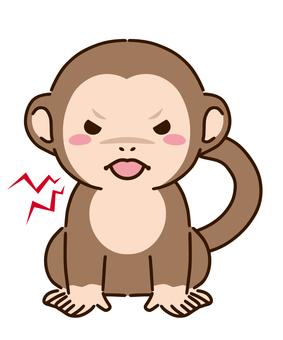 Angry and menacing monkey