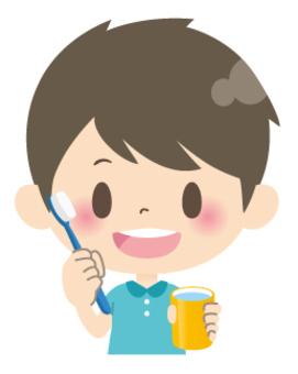 Elementary school low school boys * health _ toothbrush