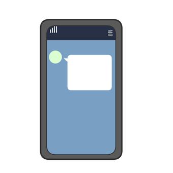 收到消息的智能手機屏幕