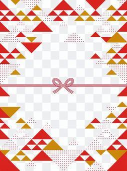 和風/幾何学模様のフレーム03