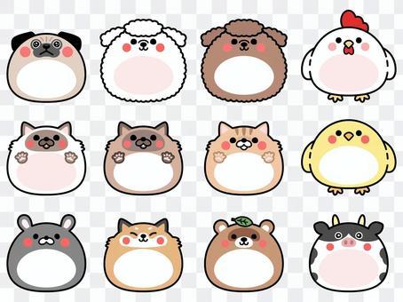 可愛的動物框架集3