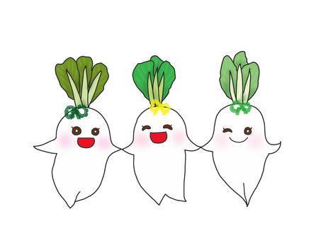 三個好朋友蘿蔔姐妹