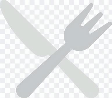 簡單的刀子和叉子