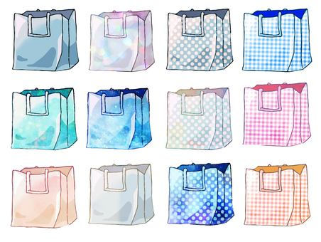 Eco-bag set with various fantastic patterns