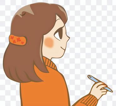 一支筆的女孩