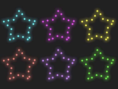七彩星形照明材料:僅框架