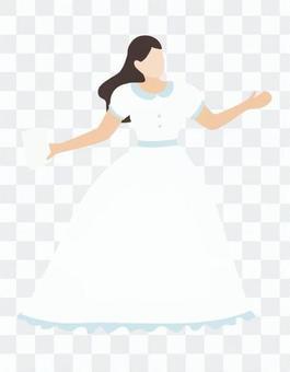 穿裙子跳舞的女人